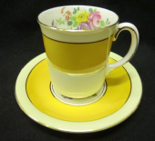 Grafton HAMPTON pattern coffee cup and saucer